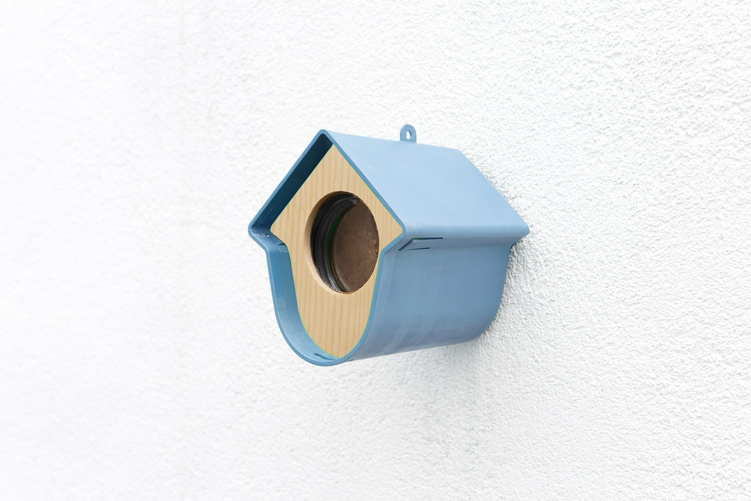 Holder for suet roll / jar Evie blue